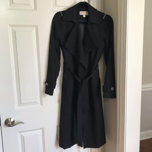 Michael Kors Classic Black Trench Coat - WORN ONCE